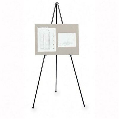 Lorell Adjustable Display Folding Easel, Black