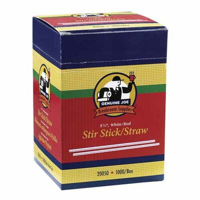Genuine Joe Stir Sticks, White, 1000/CT