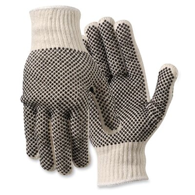 R3 Safety Work Gloves, PVC Dots On Both Sides, Large