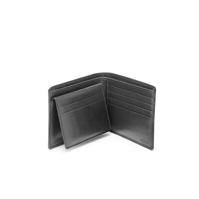 Hartmann Capital Leather Removable ID Billfold in Black