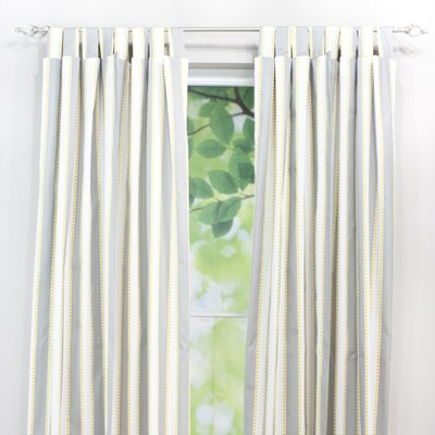 Chooty & Co Lulu Storm Cotton Tab Top Curtain Single Panel