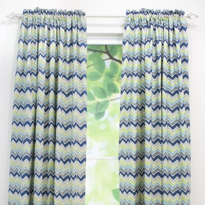 Chooty & Co See Saw Cotton Rod Pocket Curtain Single Panel