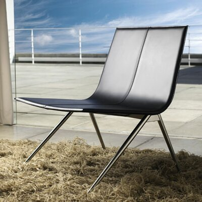 Luxo by Modloft Mayfair Leather Lounge Chair