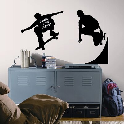 Room Mates Skaters Chalkboard Peel and Stick Wall Decal