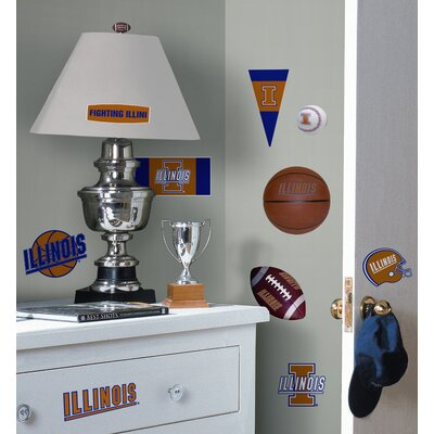 Room Mates University of Illinois Peel and Stick Wall Decal