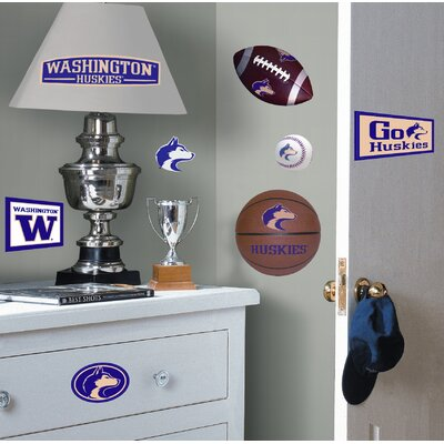 Room Mates University of Washington Huskies Peel and Stick Wall Decal