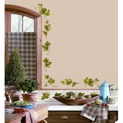 Room Mates 26-Piece Evergreen Ivy Peel and Stick Wall Decal