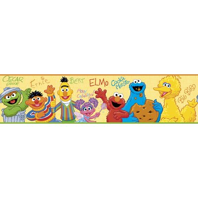 Room Mates Licensed Designs Sesame Street Peel & Stick Wall Border