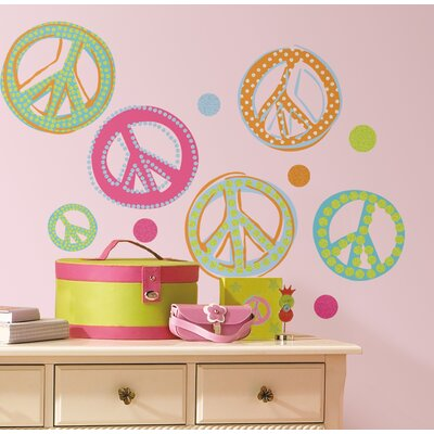 Room Mates Studio Designs Peace Signs Peel and Stick Wall Decal