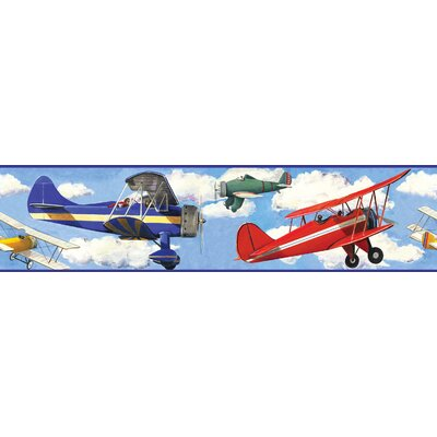 Room Mates Studio Designs Vintage Planes Wall Border