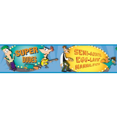 Room Mates Licensed Designs Phineas and Ferb Wall Border