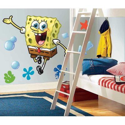 Room Mates Nickelodeon SpongeBob SquarePants Licensed Designs Peel and Stick Giant Wall Decal
