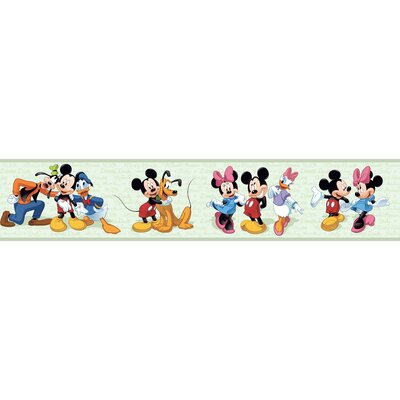 Mickey and Friends Border in Green