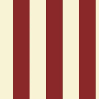 Room Mates Silk Stripe Wallpaper in Red / Almond