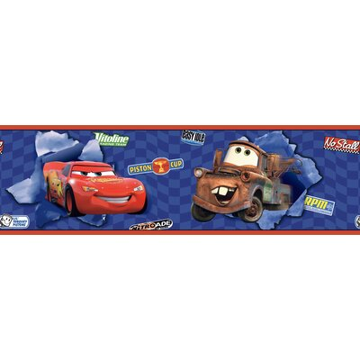 Room Mates Cars Lightning McQueen Border