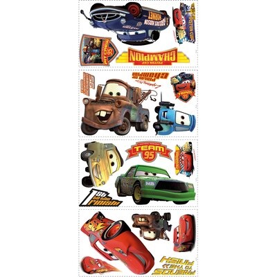 Room Mates Cars - Piston Cup Champs Peel and Stick Wall Decals