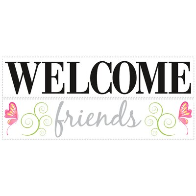 Room Mates Welcome Friends Peel and Stick Wall Decal