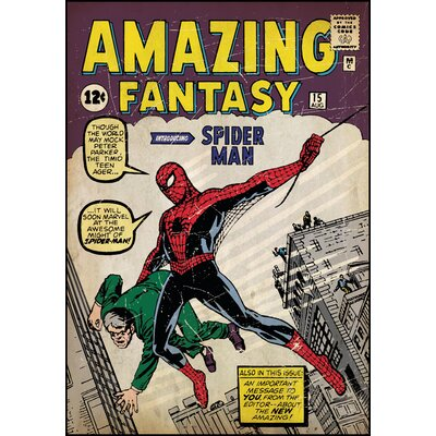 Room Mates Spiderman No.1 Peel and Stick Comic Book Cover Wall Decal