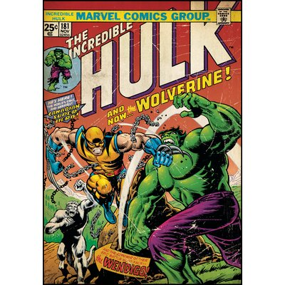 Room Mates Hulk with Wolverine Peel and Stick Comic Book Cover Wall Decal