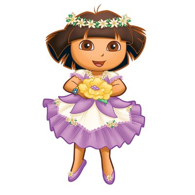 Room Mates Nickelodeon Dora the Explorer Enchanted Forest Adventures Peel and Stick Giant Wall Decal
