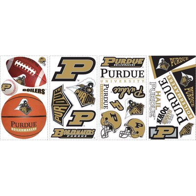 Room Mates 25-Piece Purdue Peel and Stick Wall Decal