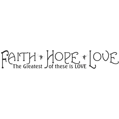 Room Mates Faith, Hope and Love Peel and Stick Quotable