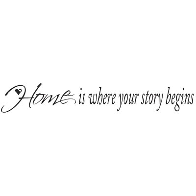Room Mates Home is Where Your Story Begins Peel and Stick Quotable