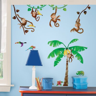 Room Mates Monkey Business Peel and Stick Wall Decal