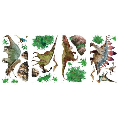 Room Mates Dinosaur Peel and Stick Wall Decal