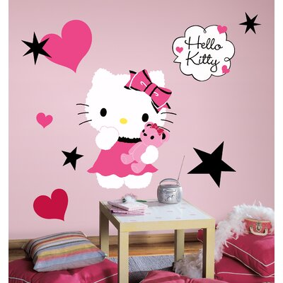 Room Mates Hello Kitty Couture Peel and Stick Giant Wall Decal