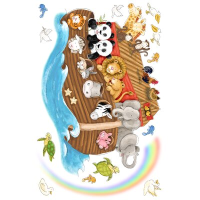 Room Mates Noah's Ark Peel and Stick Giant Wall Decals