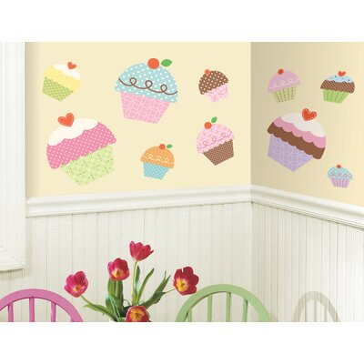 Room Mates Happi Cupcake Peel and Stick Giant Wall Decals