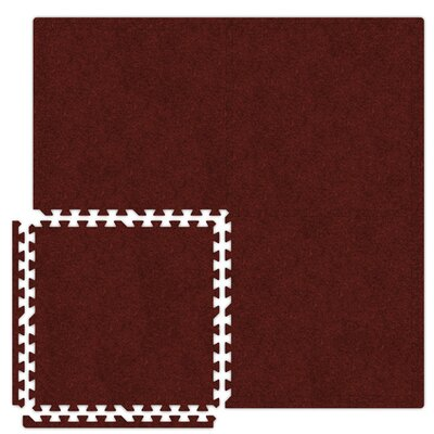 Alessco Inc. Economy SoftCarpets Set in Burgundy
