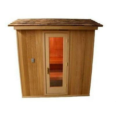 5' x 7' x 7' Outdoor Prebuilt Sauna with Shake Roof