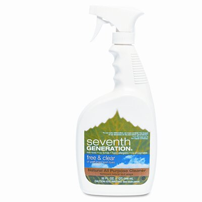 Seventh Generation Free & Clear Natural All Purpose Cleaner, 32oz Spray