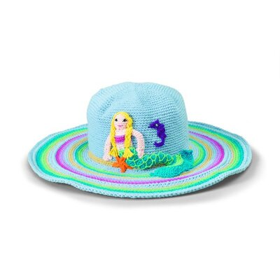San Diego Hat Co Kids' Mermaid Crochet Floppy Hat