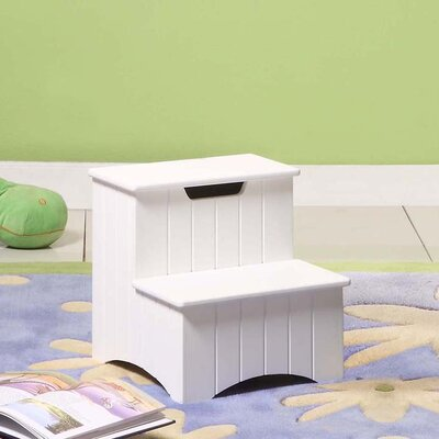 Wood Veneer Storage Step Stool
