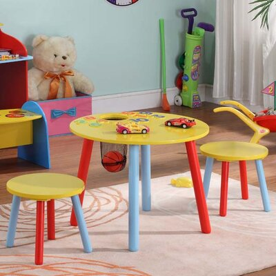 InRoom Designs Kids' 3 Piece Table and Stool Set