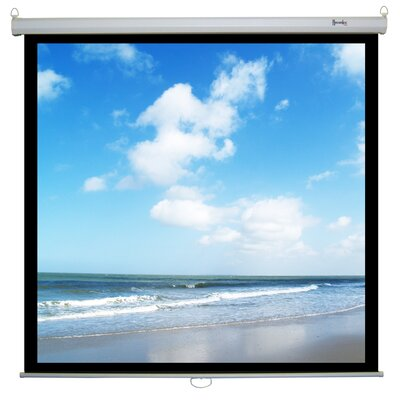 "Recordex White Retract Plus Premium Screen Square - AV Format- 50""x50"" - 96""x96"""