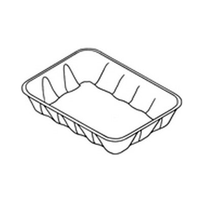 Genpak Supermarket Tray in Yellow