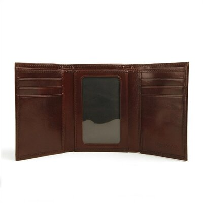 Old Leather Double I.D. Trifold Wallet