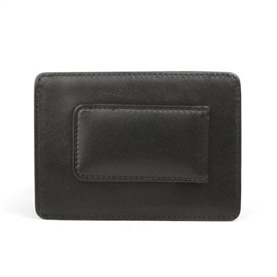 Bosca Nappa Vitello Deluxe Front Pocket Wallet in Black