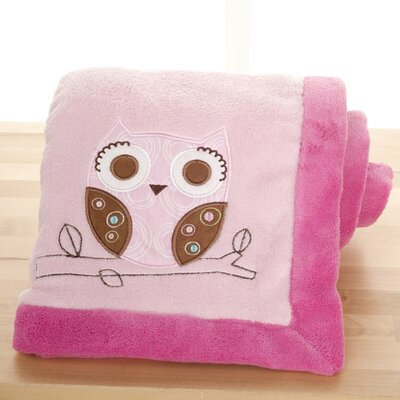 Girl Woodland Embroidered Boa Blanket