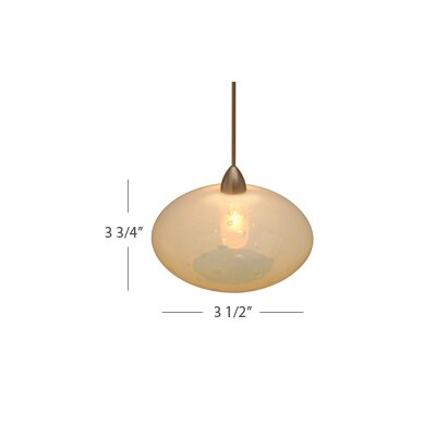 European 1 Light Orillion LED Pendant with Canopy Mount
