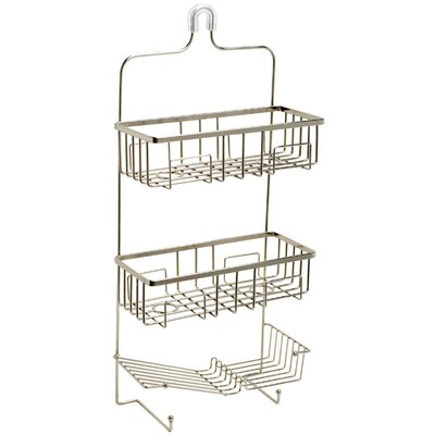 Zenith Products Shower Caddy in Brushed Nickel