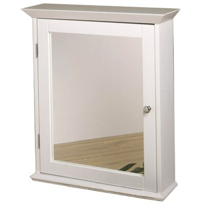 Medicine Cabinet with Mirrored Door in Classic White