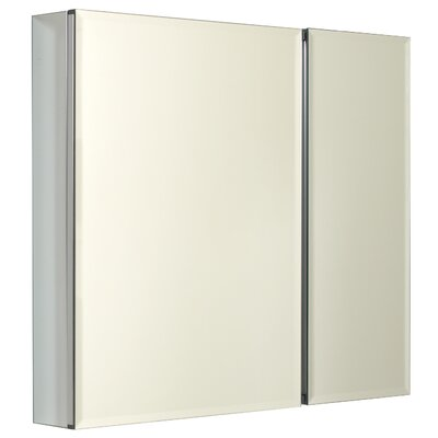 Zenith Products 30 Inch Premium Biview Medicine Cabinet with Two Beveled Mirrors