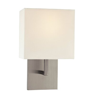 "George Kovacs by Minka 11.5"" Wall Sconce in Brushed Nickel with White Fabric Shade"