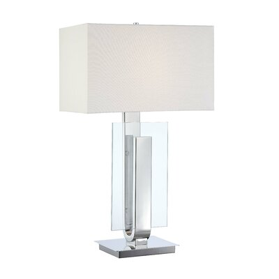 "George Kovacs by Minka One Light 31"" Table Lamp in Polished Nickel"
