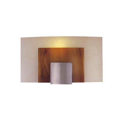 George Kovacs by Minka  Wall Sconce in Brushed Nickel with Art Glass - Energy Star